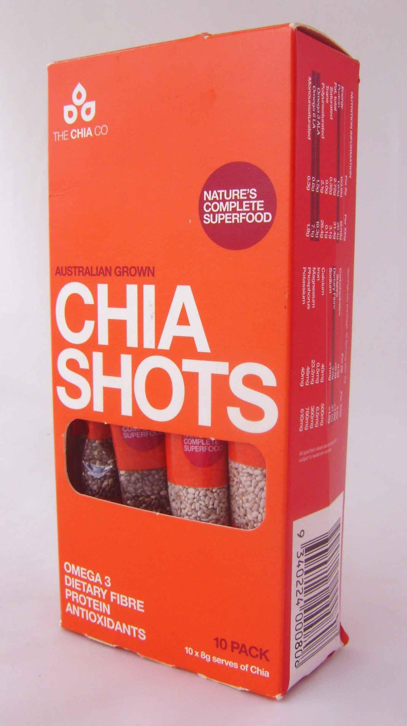 Chia Seed Black & White Shots 8gx10pk (8) - Grocery, Seeds/Dietary ...