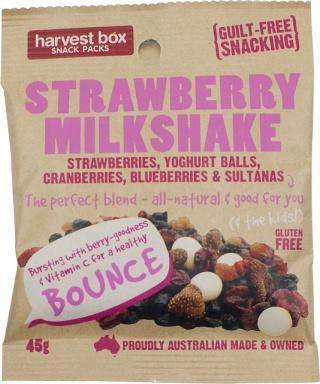Harvest Box Snack Pack Strawberry Milkshake G/F 10x45g