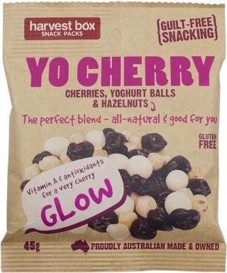 Harvest Box Snack Packs Yo Cherry G/F 10x45g