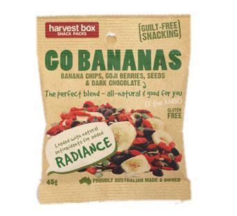 Harvest Box Snack Packs Go Bananas G/F 10x45g
