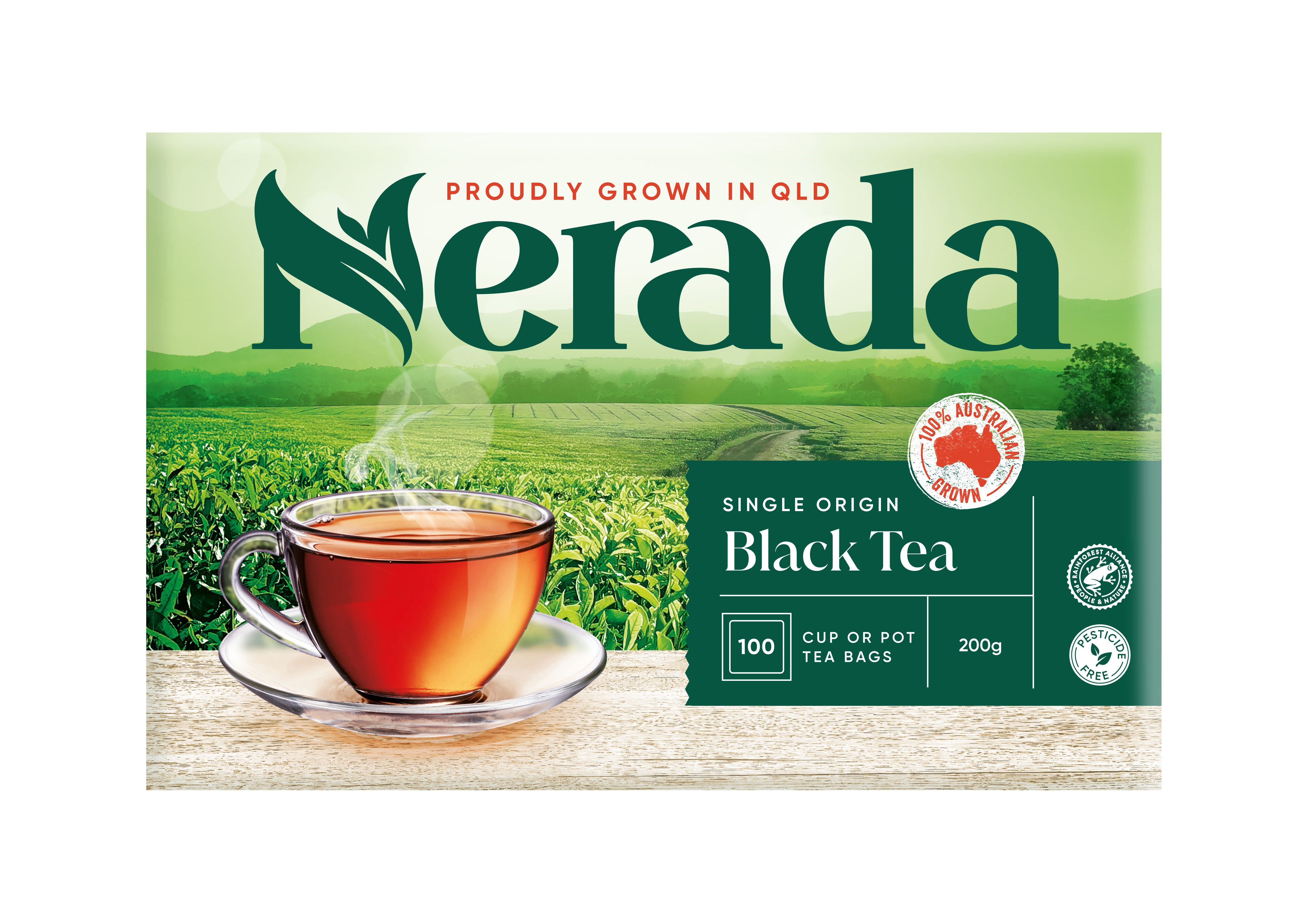 Nerada Cup or Pot 100 Teabags 12x200g