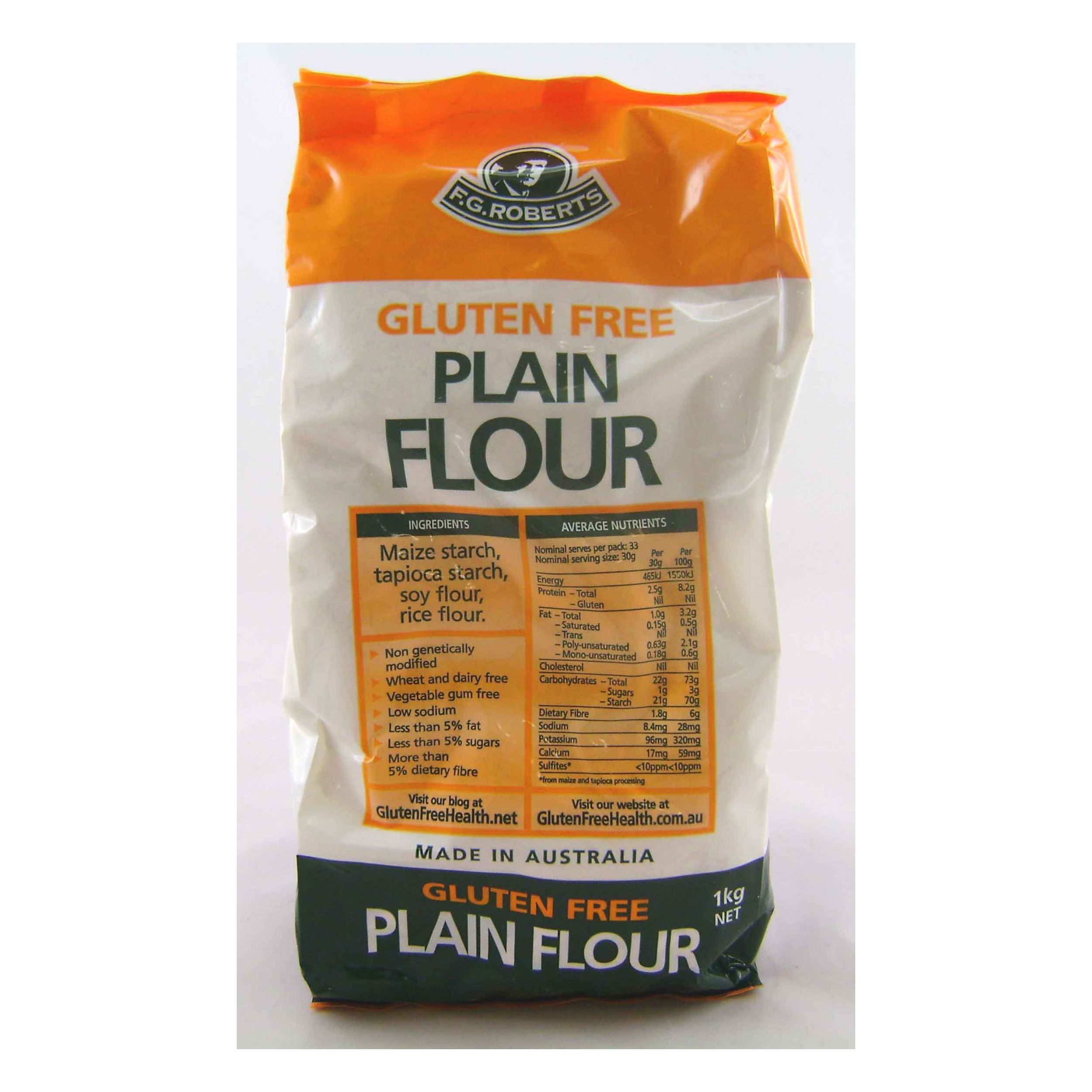 Roberts Gluten Free Plain Flour 5x1kg - Click to enlarge