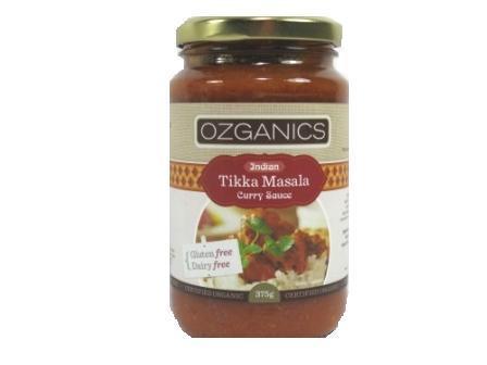 Ozganics Indian Tikka Masala Curry Sauce G/F 375g
