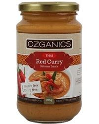 Ozganics Thai Red Curry Simmer Sauce G/F 375g