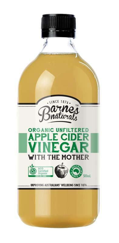 Barnes Naturals Organic Apple Cider Vinegar with the