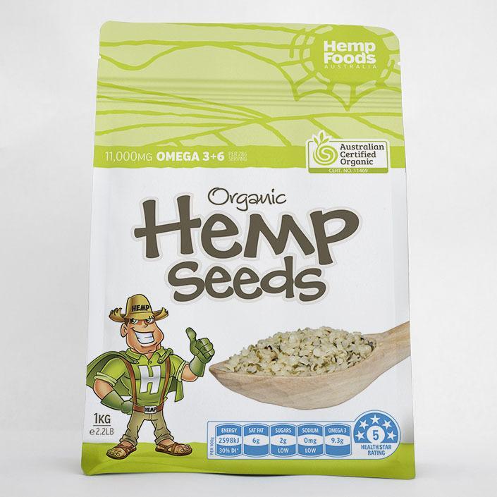 Organic Hemp Seeds Hulled 1kg
