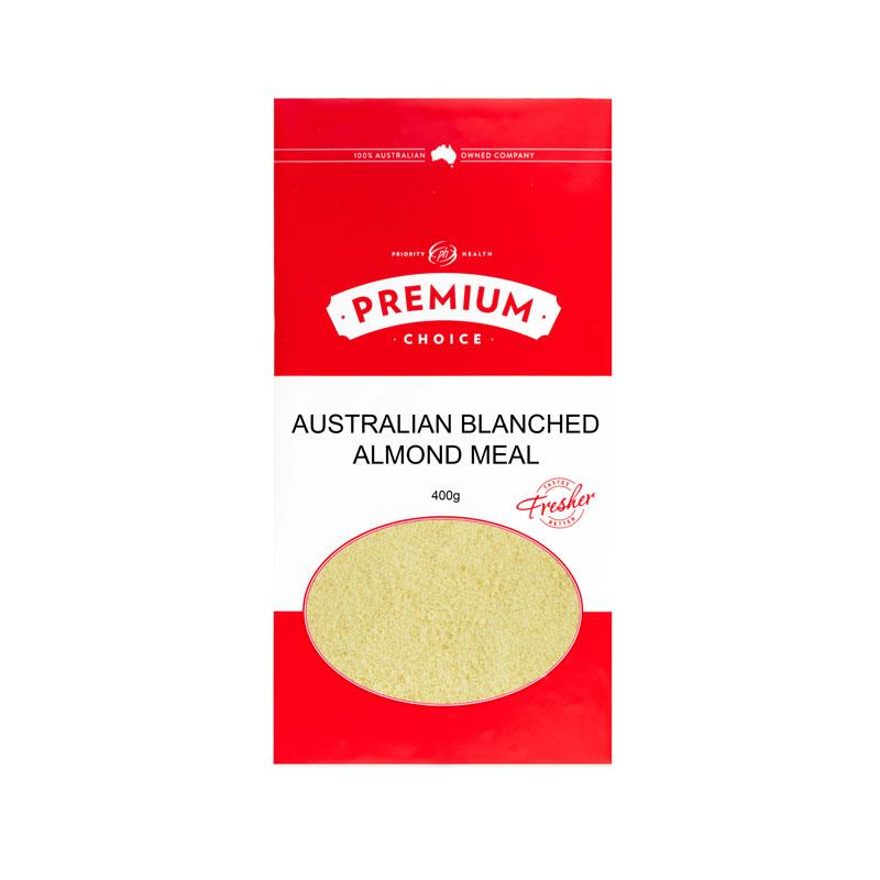 Premium Choice Australian Almond Blanched Meal 10x400g