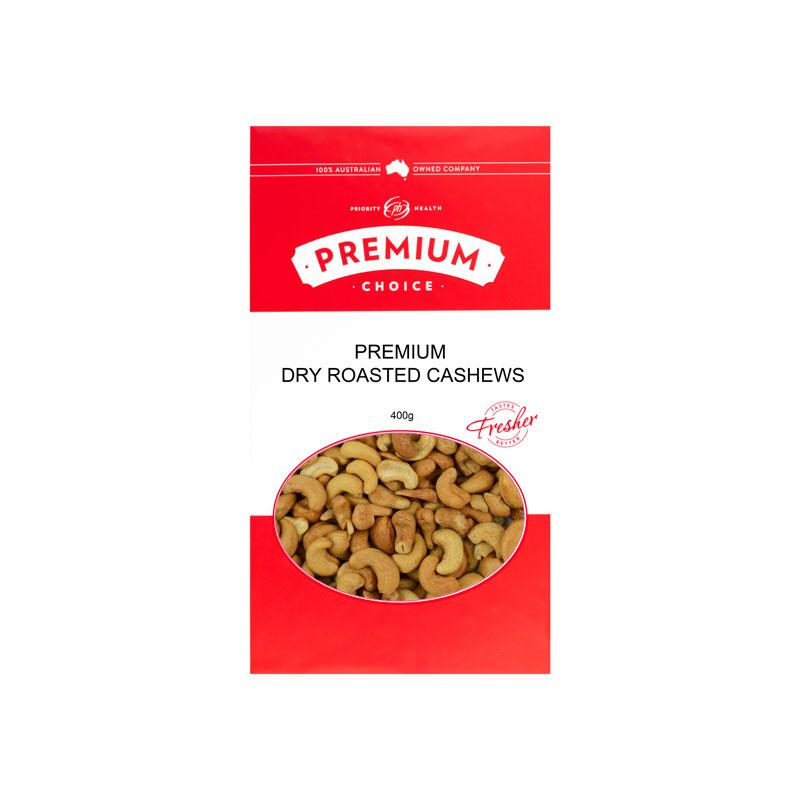 Premium Choice Dry Roasted Cashews 12x400g