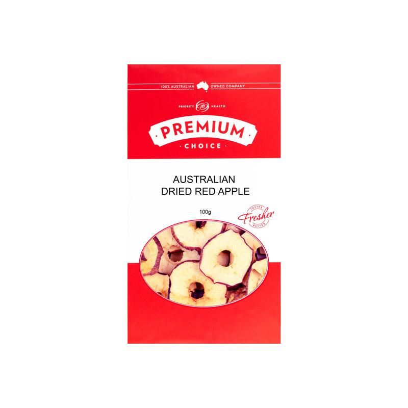 Premium Choice Australian Dried Red Apple (Sulphur Free) 10x100g