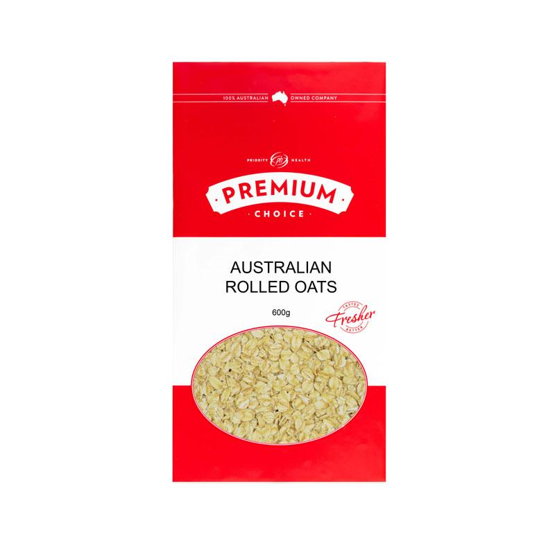 Premium Choice Australian Rolled Oats 8x600g