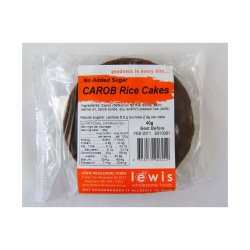 Lewis Carob Coated Rice Cakes No Added Sugar (24 pieces)