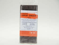 Lewis Carob Coated Ginger Bar No Added Sugar 6x110gm