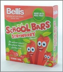 Bellis Strawberry School Bars 12x160g