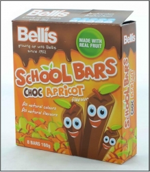 Bellis Choc Apricot School Bars 12x160g