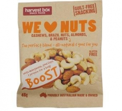 Harvest Box Snack Pack We Love Nuts G/F 10 x45g