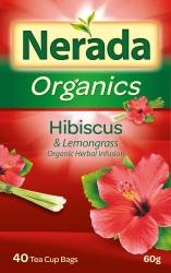 Nerada Organic Hibiscus & Lemongrass 60g 5x40