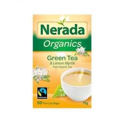 Nerada Organic Green & Lem Myrtle 50 Teabags  5x75g