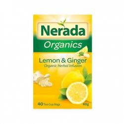 Nerada Organic Lemon/Ginger 40 Teabags 5x60g