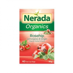 Nerada Organic Rosehip 40 Teabags 5x60g