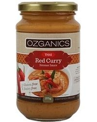 Ozganics Thai Red Curry Simmer Sauce G/F 375g - Click for more info