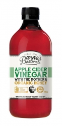 Barnes Naturals Organic Apple Cider Vinegar & The Mother with Honey 500ml (6)
