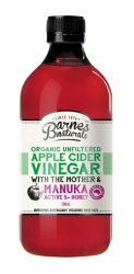 Barnes Natural Organic Apple Cider Vinegar+ Manuka Honey 500ml (6)