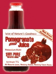Pomegranate 100% Pure Natural Juice 12x1litre - Click for more info