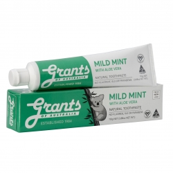 Grants Mild Mint Toothpaste with Organic Aloe Vera 110g