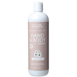 Australian Biologika Fragrance Free Hand and Body Wash 500ml