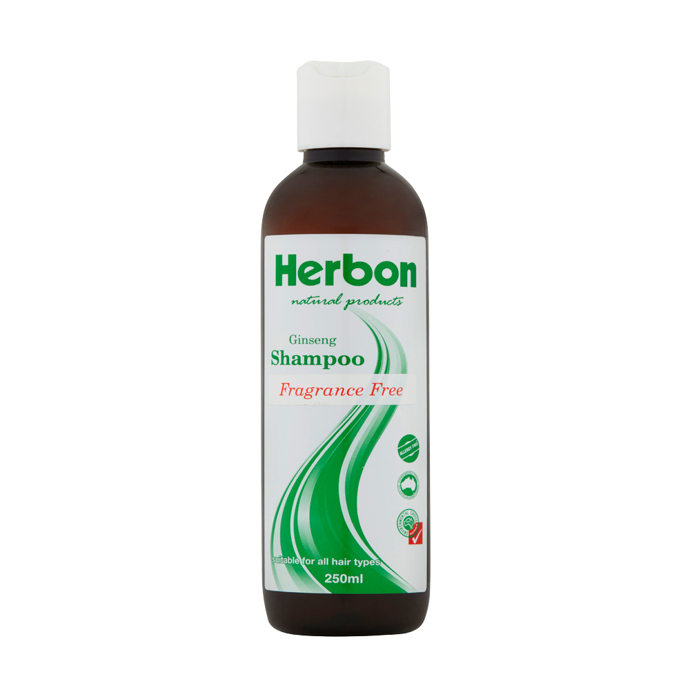Herbon Ginseng Shampoo Fragrance Free 250ml