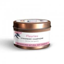 Candle Tin Fleurieu- Strawberry Champagne 160g