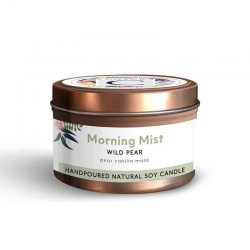 Candle Tin Morning Mist- Wild Pear 160g