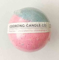 Bath Bomb Fleurieu- Strawberry Champagne 125g