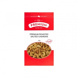 Premium Choice Roasted Salted Cashews W240 12x400g - Click for more info