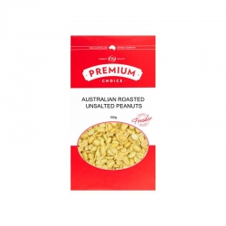 Premium Choice Australian Roasted Unsalted Peanuts 12x500g
