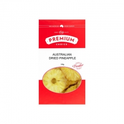 P/C Aust Dried Pineapple No Sulphur 10x100g - Click for more info