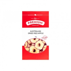 P/C Aust Dried Red Apple No Sulphur 10x100g - Click for more info