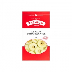 Premium Choice Australian Dried Green Apple (Sulphur Free) 10x100g