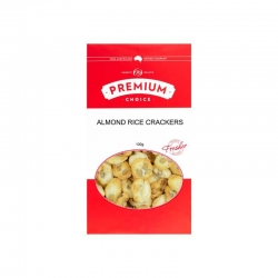 Premium Choice Almond Rice Crackers (Doowa) 12x100g