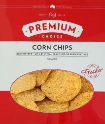 Premium Choice Natural Round Corn Chips Gluten Free 6x500g