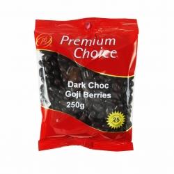 Premium Choice Dark Choc Goji Berries 15x250g - Click for more info